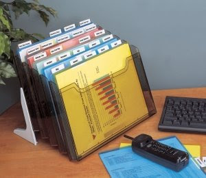 step file type item with cascading plastic trays