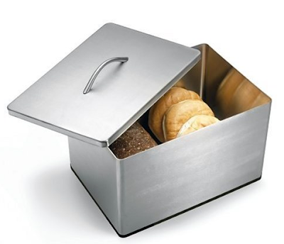 stainless steel bread canister, square