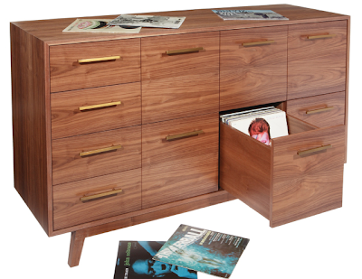 record album storage cabinet