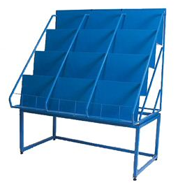 LP display rack, blue