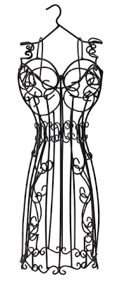 wrought iron dress form for jewelry