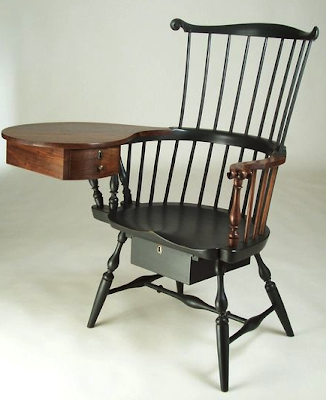 writing arm chair