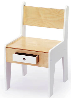 child's chair with little drawer