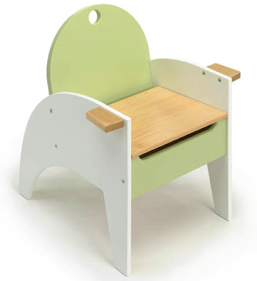 child's chair with lift-up seat for storage