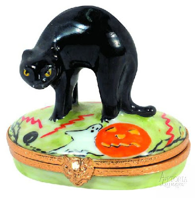black cat trinket box