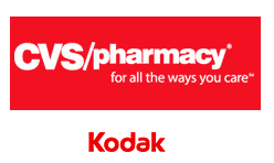 CVS/pharmacy and Kodak logos