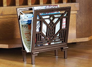 Frank Lloyd Wright inspired magazine rack