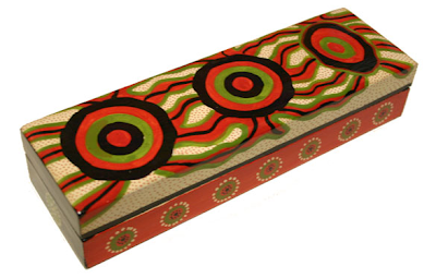laquerware colorful pencil box