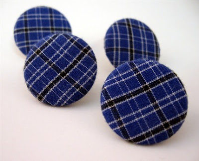 blue fabric pushpins