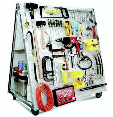 mobile pegboard tool cart