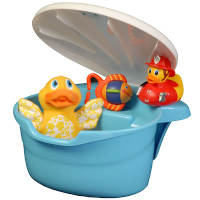 blue tub toy organizer