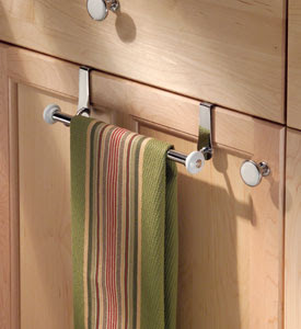 over cabinet towel rack