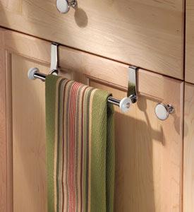 Kitchen Towel Racks Hidden Near The Sink