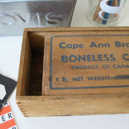 wooden salt codfish box