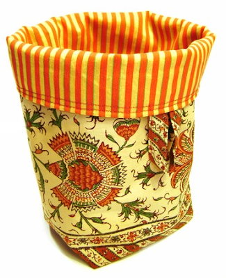 fabric bucket from Italy