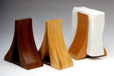 beautiful wood napkin holders
