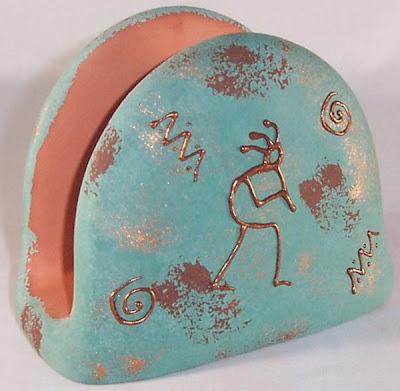 pottery napkin holder