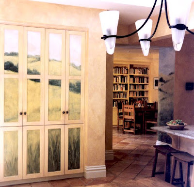 pantry door murals
