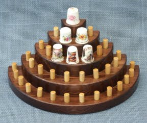 semicircular thimble display rack