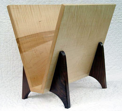 magazine rack, wood