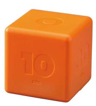 cube-shaped timer, orange