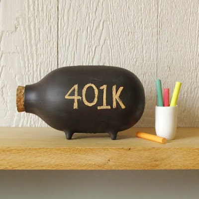 piggy bank, write on with chalk