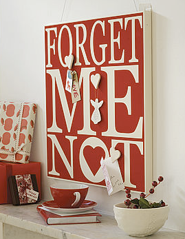 Forget Me Not magentic notice board, red