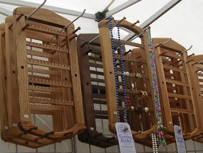 wood earring racks