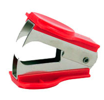 staple remover, claw type, red