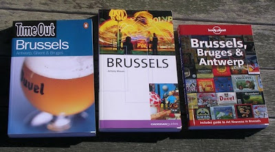 three guidebooks for Brussels