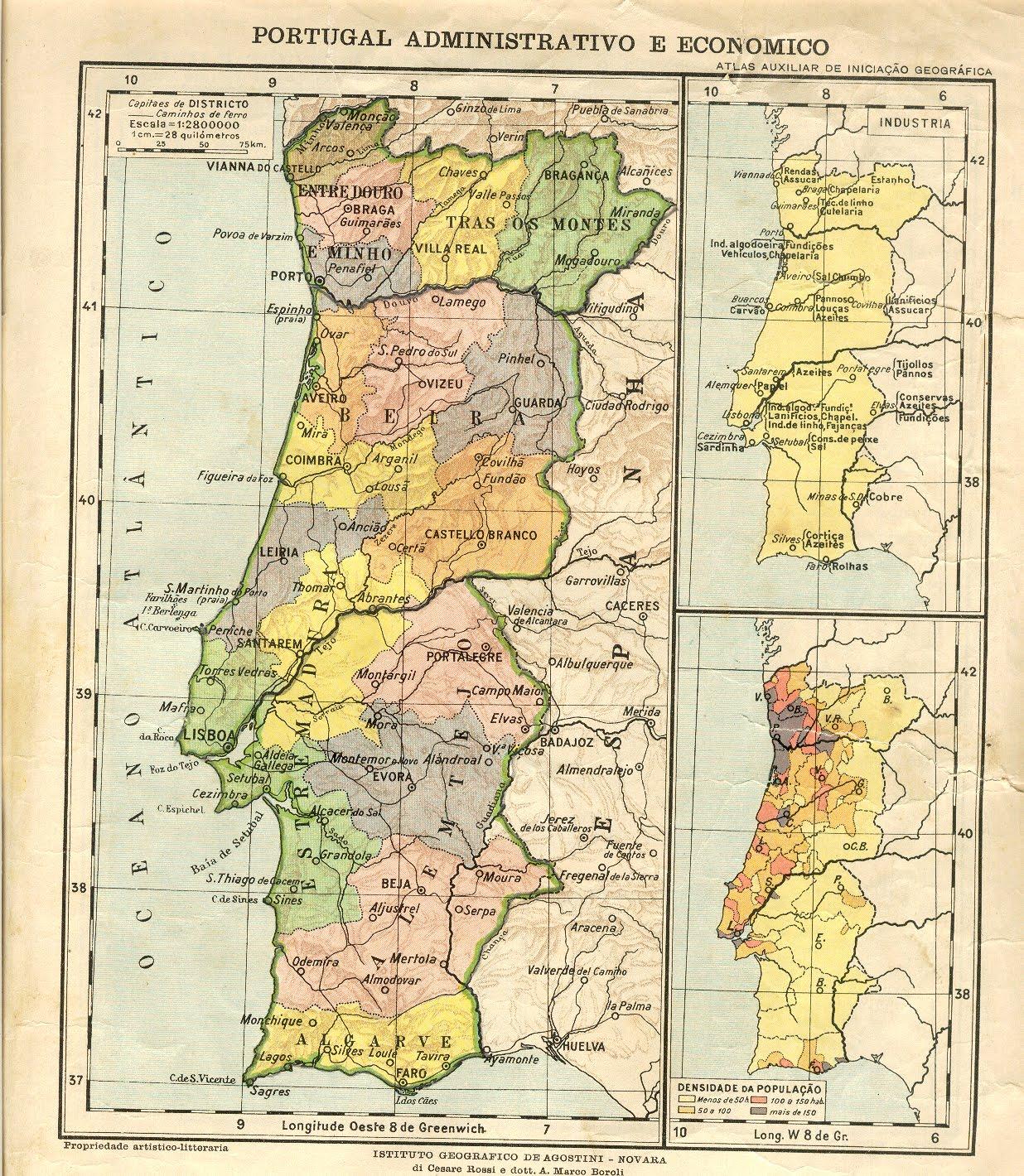 mapa de portugal dividido por provincias carreiradomato: Regionalização: Aspectos Históricos mapa de portugal dividido por provincias