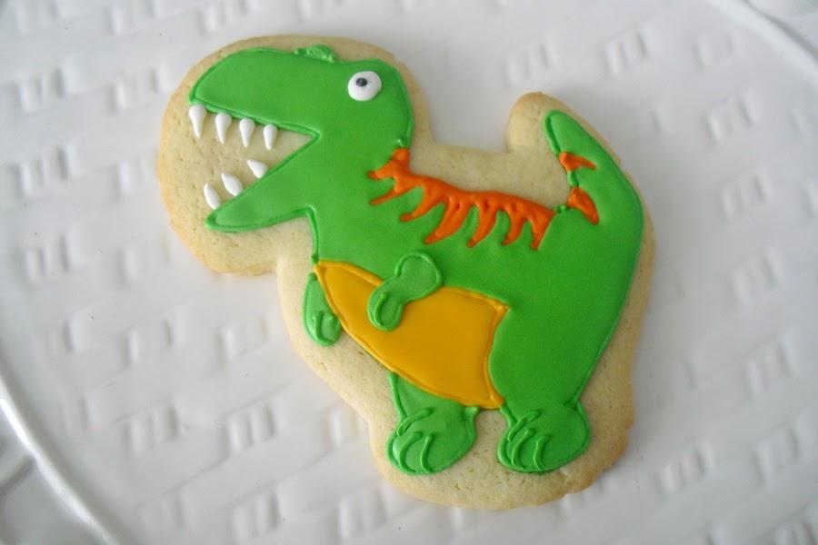 Sugar Cookies Cakes And More T Rex Cookies
