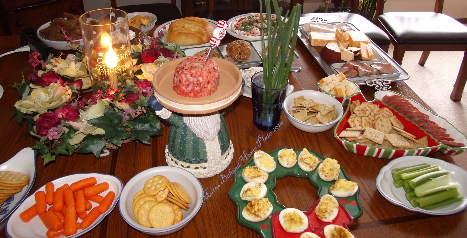 christmas dinner plate l