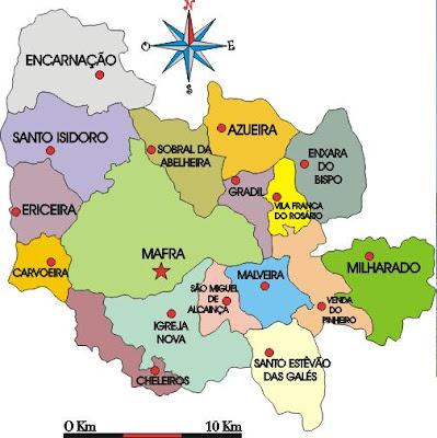 concelho mafra mapa Pérolas do Oeste: Mafra concelho mafra mapa