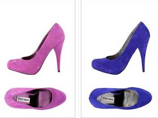 zapatos azueles o fucsia