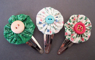 yo-yo suffolk puff hair clips