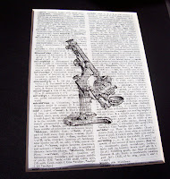 microscope vintage art print dictionary two cheeky monkeys Etsy