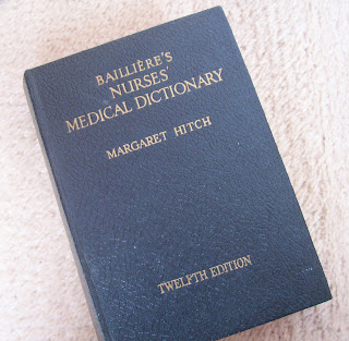 image vintage nurse's medical dictionary bailliere's