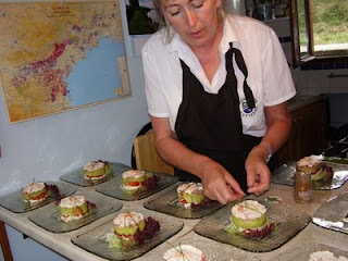 Liz preparing one of her creations