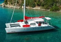 Charter catamaran REACTION in the Virgin Islands with ParadiseConnections.com