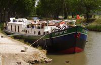 French Hotel Barge EMMA canal du midi south of France barging cruises vacations - contact ParadiseConnections.com