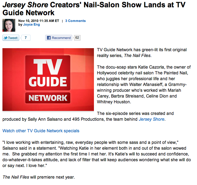 Too Much TV: The Nail Files: A TV Guide TV Show