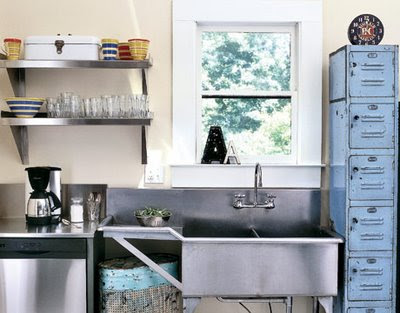Cabin Fervor: Rustic Industrial Kitchens - Industrial Look Kitchen Image