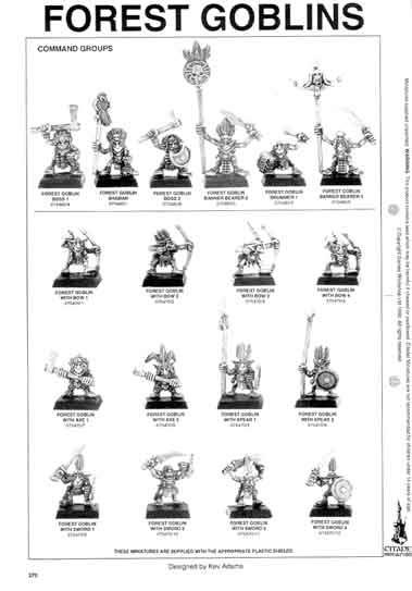 Warhammer Fantasy Battle Tabletop Gaming: Forest Goblin