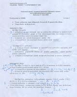 Subiecte titularizare chimie - Iasi 2008 pagina 1