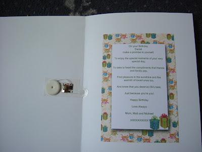 Musical 18th Birthday Card For My Son Daniel