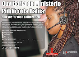 Ouvidoria do MP-BA (0800-284-6803)