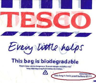 Tesco. Every little helps. This bag is biodegradable