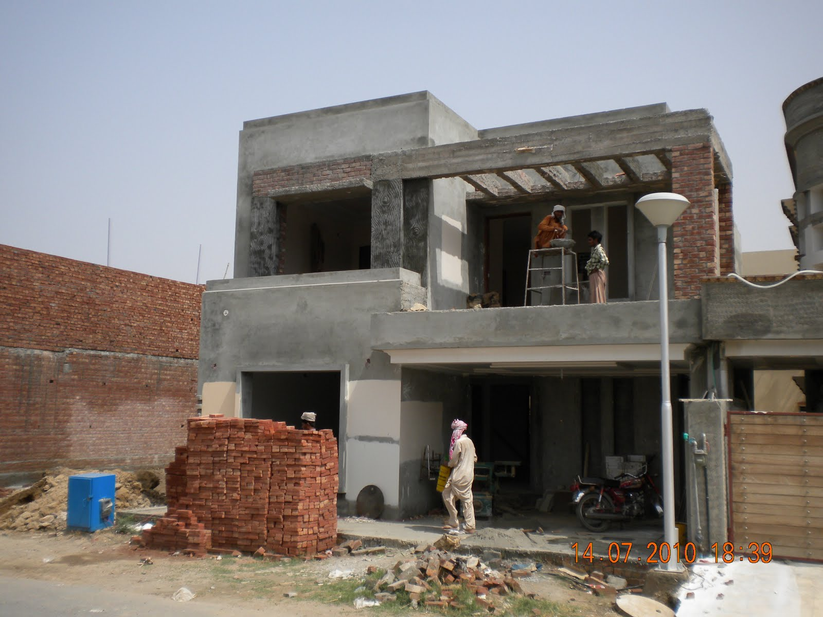 Front Elevation Tiles In Lahore : Marla house front design home and style