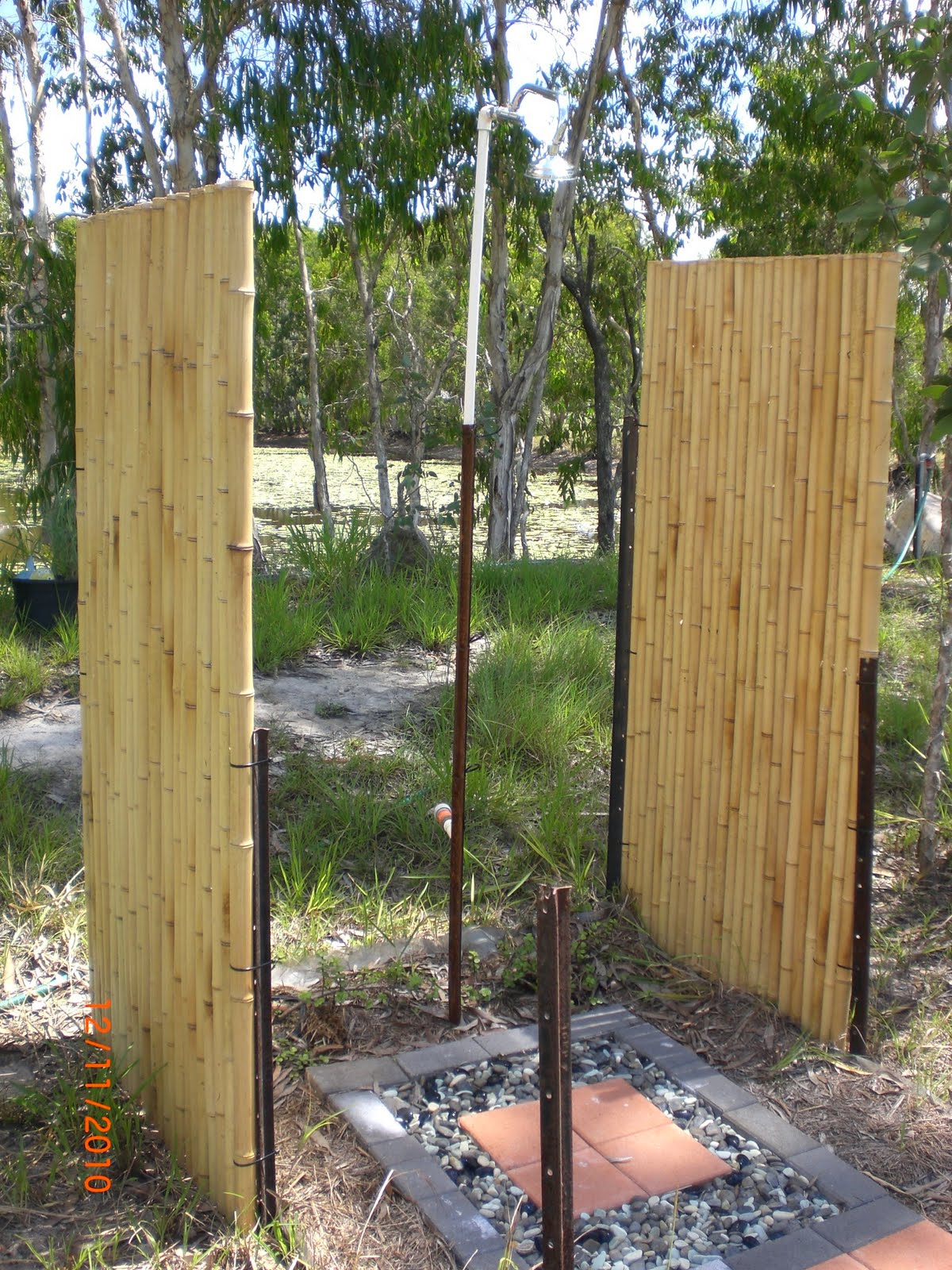 Bamboo Outdoor Shower Enclosures Sandflies Cyclones And Pumpkin Outdoor Shower
